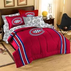 Montreal Canadiens NHL Bed in a Bag (Twin) xyz Montreal Canadiens, Cincinnati Bengals, Pittsburgh Steelers, Steelers Football, Twin Comforter, Bedding Sets, Bed Ensemble, Sports Bedding, Nfl Carolina Panthers
