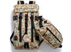 Brand unknown. Cool pseudo-camo pattern. #backpack #functional #prints