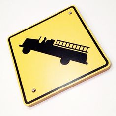 Fire Station Fire Truck Decor Sign by WhiteSummerCreations on Etsy, $17.95