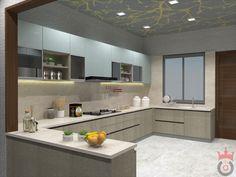 Kitchen Room Design, Modern Kitchen Design, Kitchen Layout, Home Decor Kitchen, Interior Design Kitchen, Kitchen Furniture, Kitchen Modular, 3d Max, Kitchens