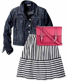 Express-  Add a jean jacket to any outfit for a relaxed look. Great for a picnic in the park session!