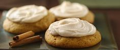 Pumpkin and spice star in a melt-in-your-mouth cookie topped with a special homemade frosting.
