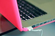 neon pink laptop skin
