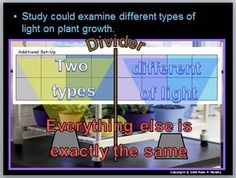 This is a 250 slide PowerPoint presentation that introduces and describes the importance of Plants / Botany.  Set-up for a growth study / independent project is described and the some basics associated with setting up an experiment / variable and controls.