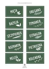 Etykiety przypraw - Hledat Googlem Spice Jar Labels, Spice Jars, Spices, Ss, Garden, Spice, Garten, Lawn And Garden, Gardens