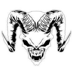 b35a97b3 HORNED SKULL 2 AIRBRUSH STENCIL AIR BRUSH TEMPLATE Arts Skull Template,  Stencil Templates, Stencils
