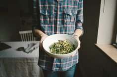 Spring Asparagus Millet Salad w/ Fresh Garlic + Lemon + Herbs | Faring Well | #vegan #glutenfree #recipe