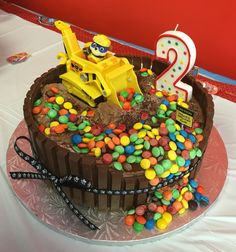 rubble cake. paw patrol birthday theme #jd2ndbirthdaytheme #pawpatrol 2 Year Old Birthday Cake, 4th Birthday Cakes, Boy Birthday Parties, Rubble Paw Patrol Cake, Paw Patrol Birthday Theme, Cumple Paw Patrol, Cupcakes, Yummy Cakes, Cake Recipes