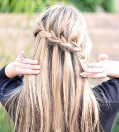 Hair, waterval vlecht
