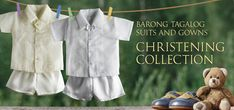 Any christening outfit you choose from our selection is bound to make you even more proud of your baby on this holy day. Barongs R Us committed to offer qualitative and extensive range of original Barong suits, dresses, branded clothing, Barong Tagalog for men & Filipiniana dresses for women. Our mission has always been to offer a strong sense of style and comfort into our products, and while providing reasonable prices and the convenience of on-line shopping.