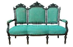 I will own one of these awesome vintage love seats one day. Preferably this color.