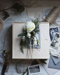 Fresh Floral Gift Wrap ideas via The Local Milk Creative Gift Wrapping, Creative Gifts, Wrapping Ideas, Wrapping Gifts, Local Milk, Merry Christmas Happy Holidays, Winter Holidays, Diy Christmas, Dresser