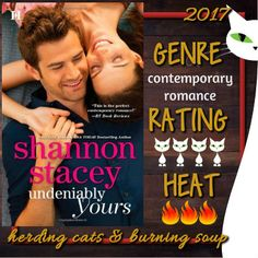 Undeniably Yours by Shannon Stacey  Love these Kowalski men. Noms!  fun and heartwarming read and one I'm sure I'll pick up again one day. This family just loves each other something fierce and get through everything together and has totally wrapped itself around my heart and just won't let go.