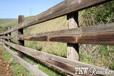 Wooden rail fence