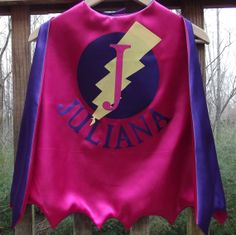 SUPERHERO CAPE With name Personalized Zig Zag by littleshepsters, $27.00