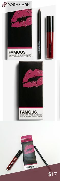 Express famous matte lip duo Brand new in box. Never used or swatched. Includes lip color and lip liner. 0.16 fl oz. Matte finish.  Thanks for checking out my closet! Express Makeup Lipstick