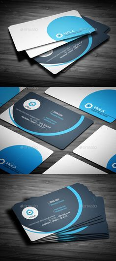 Blue Creative Business Card — Photoshop PSD #company #corporate • Available here → https://graphicriver.net/item/blue-creative-business-card/14313712?ref=pxcr
