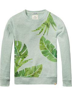 Sweater met botanische print Scotch Shrunk ss17