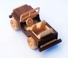 Wooden Toy Truck Off-road Vehicle Classic by woodentoystudio
