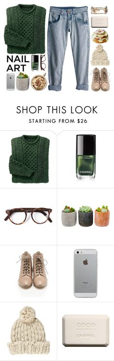 """""""dark green nails <3"""" by terrymurat9 ❤ liked on Polyvore featuring Rip Curl, Chanel, Cutler and Gross, Shop Succulents, Loeffler Randall, Luvvitt, Pepe Jeans London, Match, nailart and fashionbytherese"""