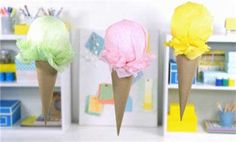 How To Make Paper Ice Cream Cone Decorations