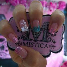 Magic Nails, Short Nails, Summer Nails, Pretty Nails, Nail Designs, Nail Art, Bling Nails, Model, Vestidos