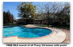 FREE MLS search of all Tracy, CA homes with pools!