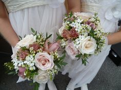 wedding floral centerpieces | Pretty flower girls with sweet avalanche roses and special fragrant ...