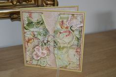A romantic card made with Prima Marketing papers