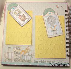 PopPerScraP: Álbum bebe Dayka niña Album Scrapbook, Baby Cards, Arts And Crafts, Templates, Frame, Ideas Para, Aurora, Craft, Baby Scrapbook Layouts