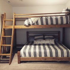 Custom Bunk Bed. Queen loft over king.