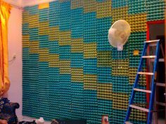 wall hanging art egg crate - Google Search
