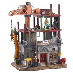 SKU 05604 - Released in 2020 as a Sights & Sounds piece for the Spooky Town Village Collection. The Dead Zone, The Scaffold, Electric Box, Flickering Lights, Concrete Mixers, Coffee Images, Halloween Village, Sight & Sound, Construction Materials