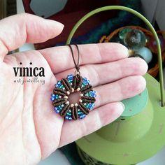 Mimosa 3. - pendant - micromacrame | Flickr - Photo Sharing!