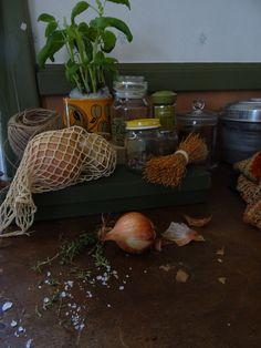Sipulipussi, suolaa ja yrttejä