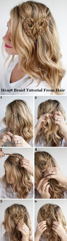 Heart Braid Tutorial From Hairstyles
