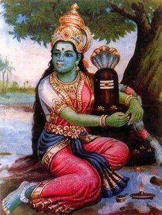 Devi Chandi embraces Shiva  Lingam 0000000000000000000000000000000000000000000000000000000000000000