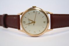 Vintage IWC 18k rose gold Wind Watch by JustVintageWatches on Etsy, $1995.00