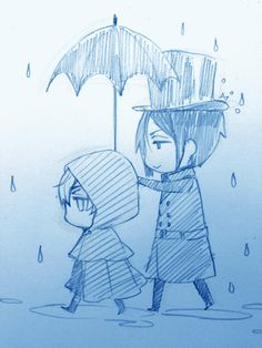 Absolutely adorable and kawaii anime illustration - Black Butler