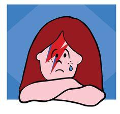 Lux Sad.   #lux #muñeca #pink #doll #bowie #sad #amoabowie #ilustration #ilustracion  ver mas en FB: lux la muñeca