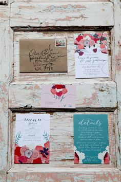 floral wedding #invitations, photo by Kat Willson http://ruffledblog.com/victorian-revisited-wedding-ideas #stationery #weddings