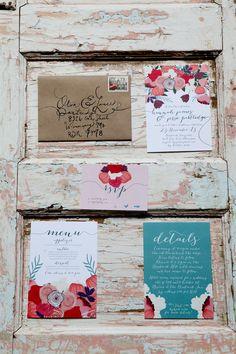 floral wedding #invitations, photo by Kat Willson http://ruffledblog.com/victorian-revisited-wedding-ideas #stationery #weddings