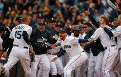 Walk off win!! My favorite picture of the 2014 season so far!! Mariners!!