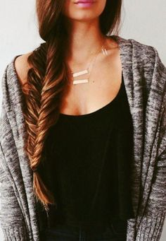 Beautiful. Wish my hair was long and thick enough for this.