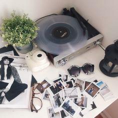records and polaroids