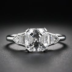 1930's 2.02 Asscher-Cut Diamond Art Deco Ring - this is  it for me :)