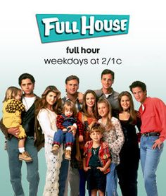 ABC Family only lets people watch Full House for an hour five times a week? Poor deprived souls.