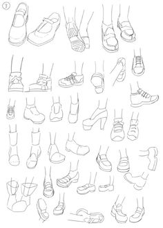 Drawing tips- shoes