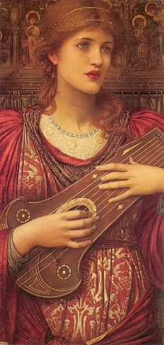 John Melhuish Strudwick - Thy music, faintly falling, dies away, thy dear eyes dream that love will live for aye