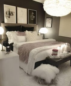 30 Teen Girl Bedroom Decor Ideas Home Bedroom Decor White Bedroom Decor, Bedroom Decor For Teen Girls, Home Decor Bedroom, Master Bedroom, Teen Bedroom, Budget Bedroom, Bedroom Bed, Bedroom Ideas For Women In Their 20s, Rich Girl Bedroom